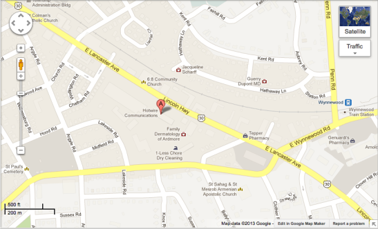 Map to Dr. Fingerhut's Office